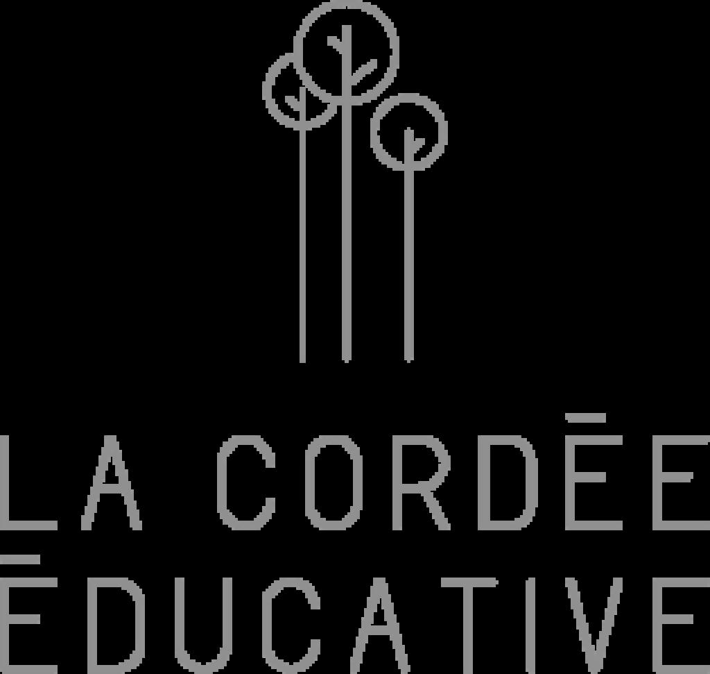 Logo La Cordée Éducative noir et blanc