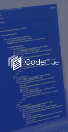 Aperçu site web CodeCue